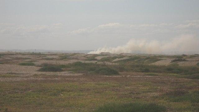Smoke in Lydd Firing Range