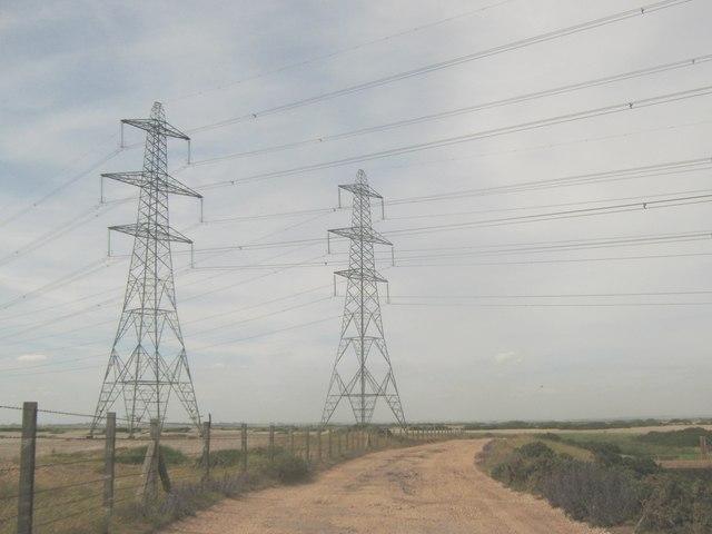 Power Lines over Dengemarsh Lane