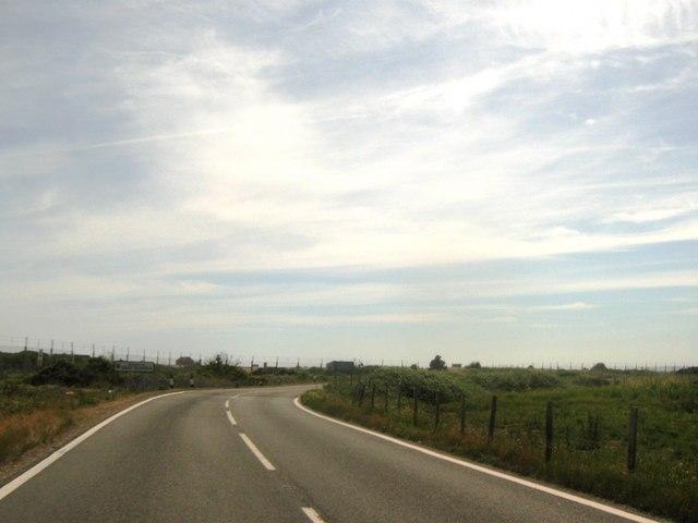 Jury's Gap Road enters East Sussex