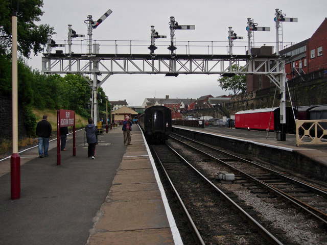 Signal Gantry at Bury Bolton Street Station, East Lancs Railway