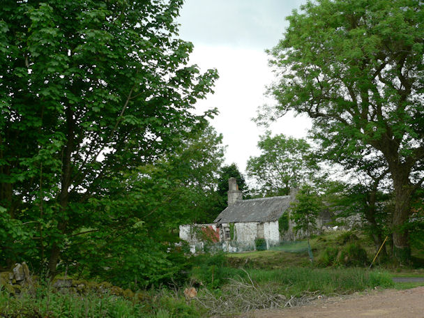 Derelict cottage at Faldarroch