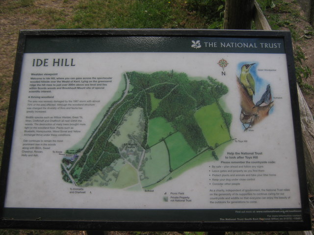 Ide Hill Viewpoint Information Board