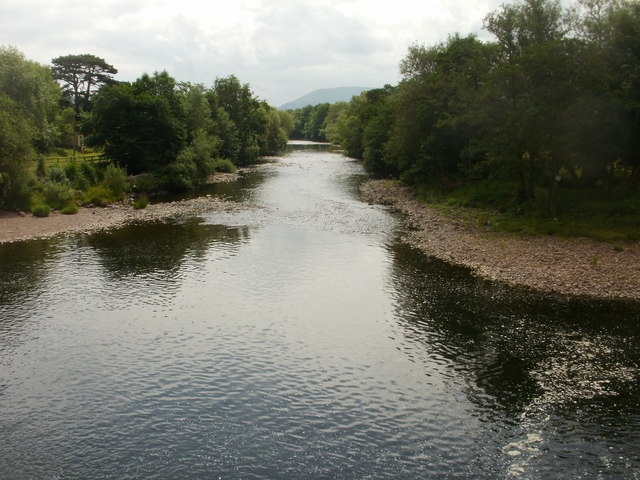 River Usk downstream from Crickhowell Bridge