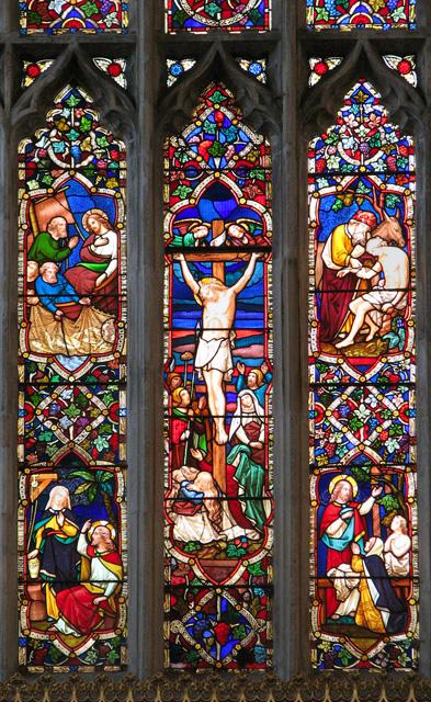 St Nicholas' Chapel in Kings Lynn - east window (detail)