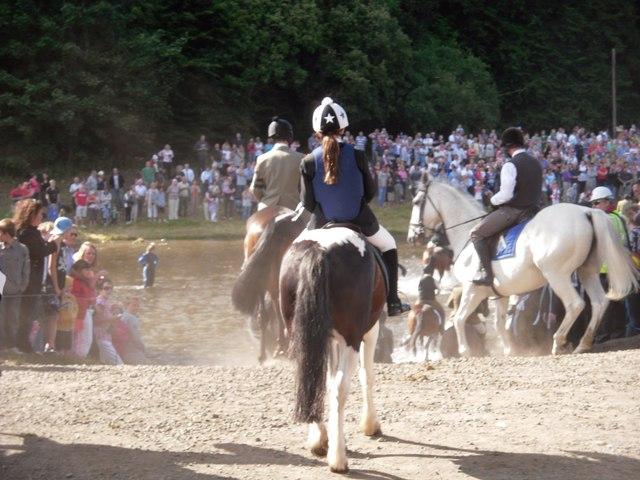 Horses Fording the River Tweed at Gala Foot