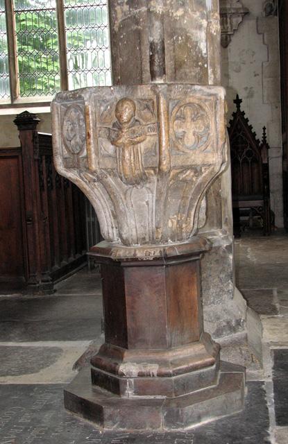 St Nicholas' Chapel in Kings Lynn - holy water stoup