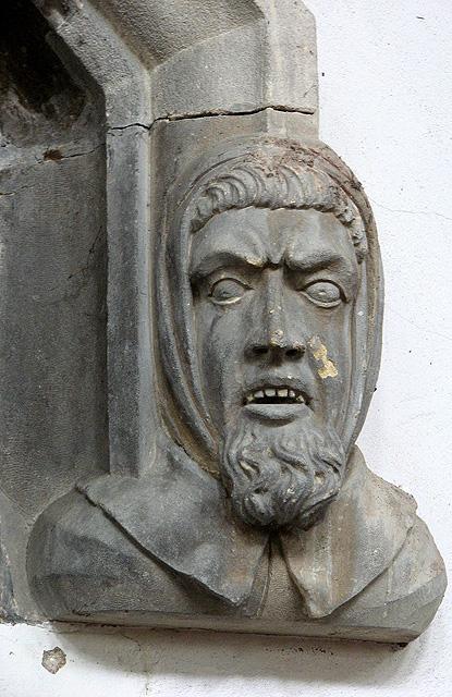 St Nicholas' Chapel in Kings Lynn - carved stone head