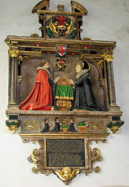 St Nicholas' Chapel in Kings Lynn - C17 monument