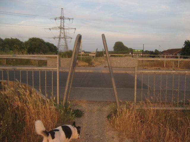 Footpath crosses Newman Drive