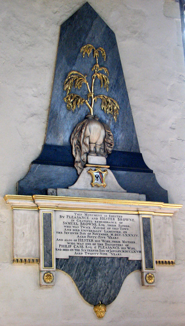 St Nicholas' Chapel in Kings Lynn - C18 monument