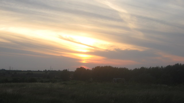 Sunset over Kemsley