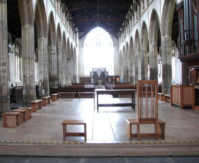 St Nicholas' Chapel in Kings Lynn - view west