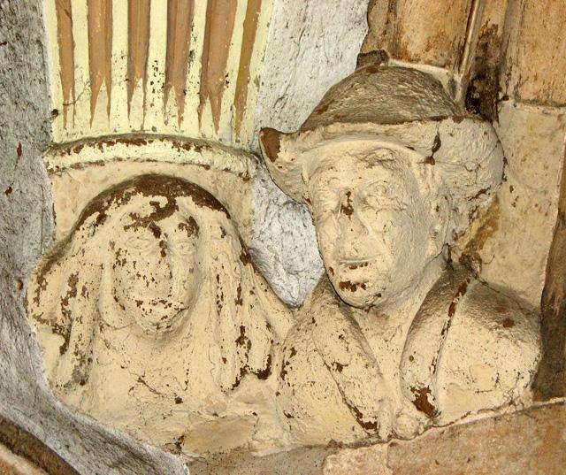 St Nicholas' Chapel in Kings Lynn - stone heads in porch