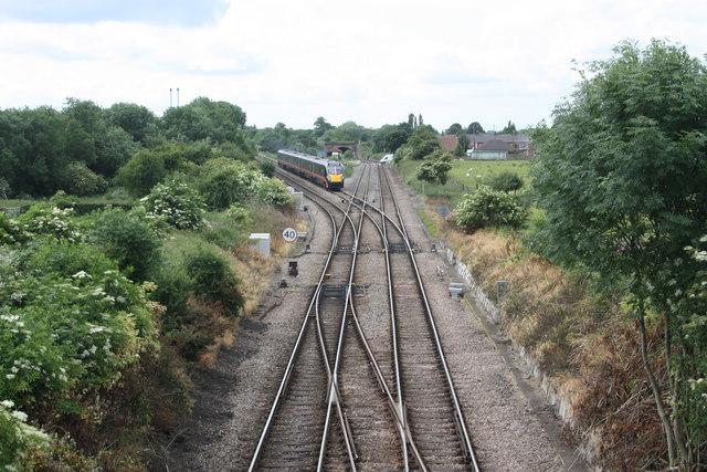 Points on the Teeside railway line