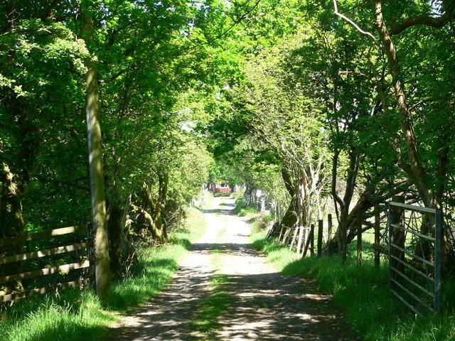 Farm entrance road