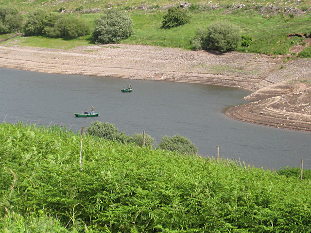 Anglers in Glensherup Reservoir