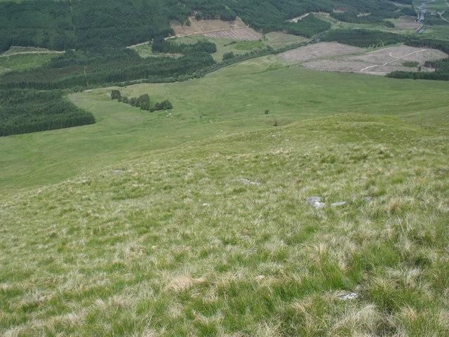 Steep north-west slopes of Beinn Bhreac-liath near Tyndrum