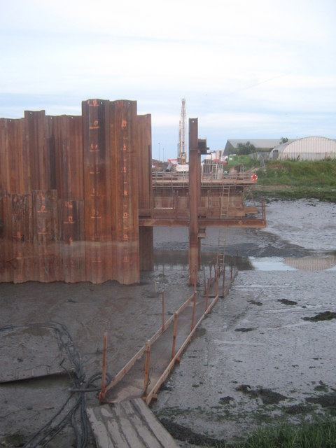 Boardwalk in the mud