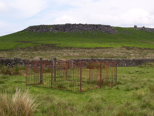Disused rain gauge on Hathersage Moor