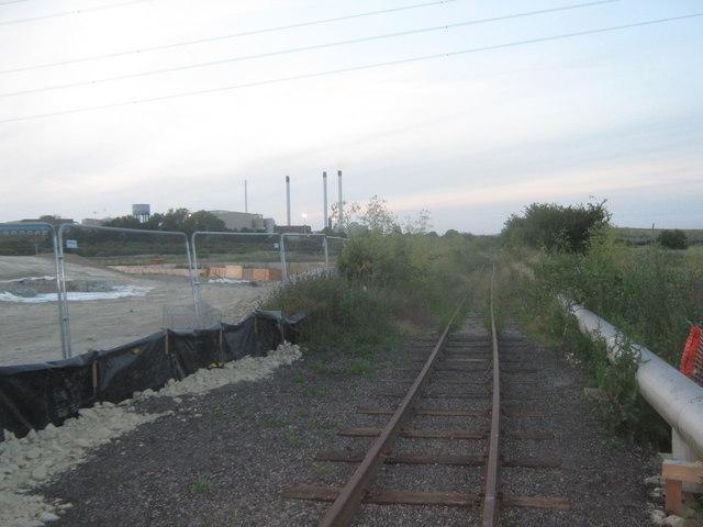 The Sittingbourne and Kemsley Railway towards Kemsley