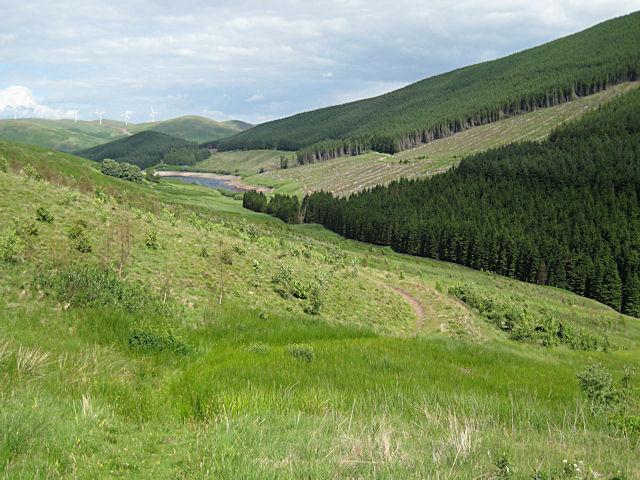 Grassy path in Glen Sherup