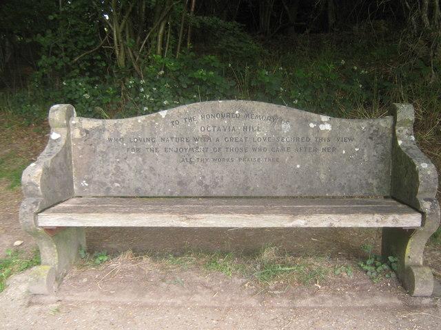 Octavia Hill's Bench on Ide Hill (2)