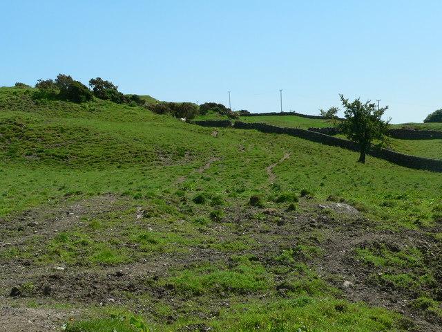 Old farmland, some erosian