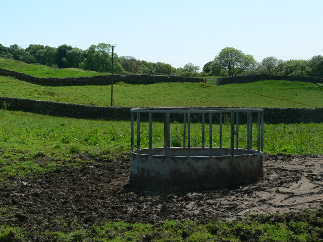 Well used cattle feeder