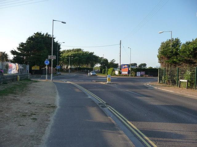 Brean : Coast Road & Roundabout