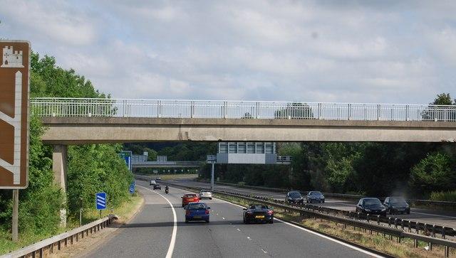 Footbridge over the M25