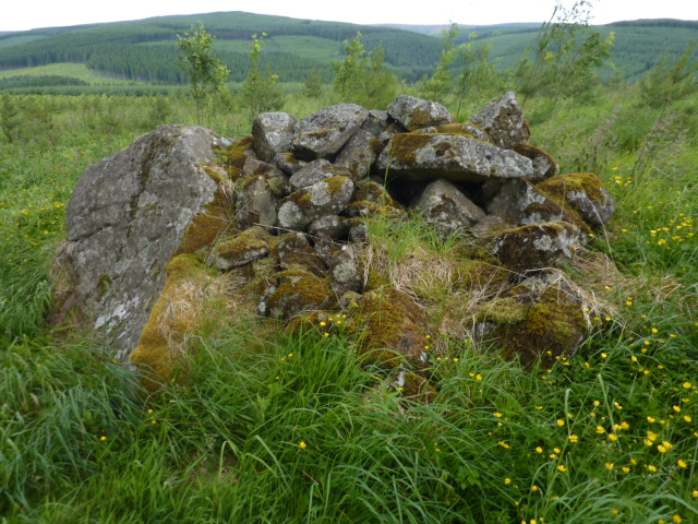 Small pile of rocks near top of Hill of Merdrum