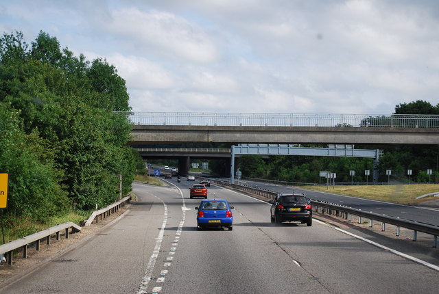 Approaching the M25 / A25 /A21 junction