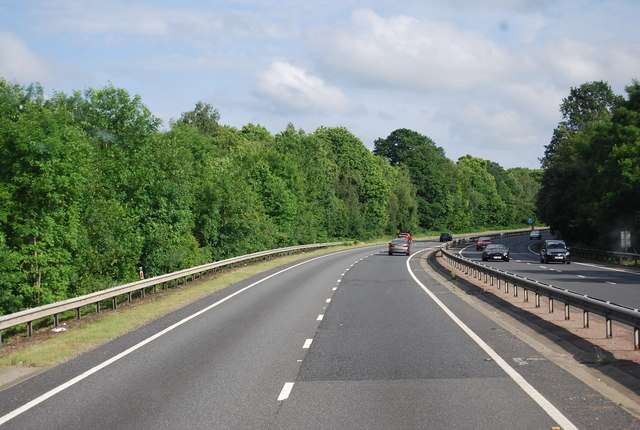 The A21 heading south