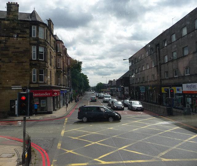 Junction St John's Road, Clermiston Road, Corstophine