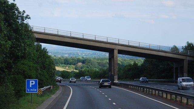Hubbard's Hill Bridge over the A21