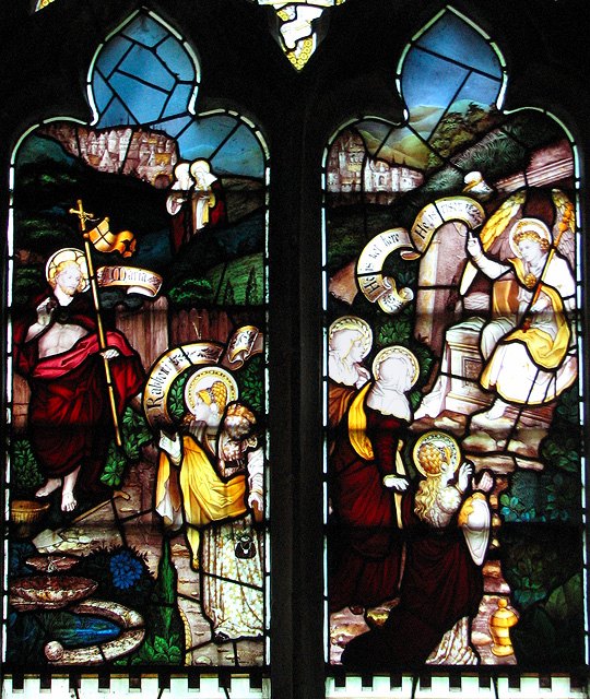 All Saints' church in Stanhoe - Victorian stained glass