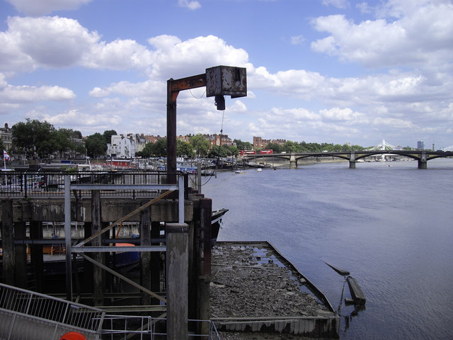 Disused jetty on the River Thames Chelsea