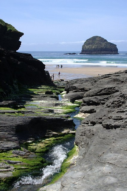The Stream at Trebarwith Strand
