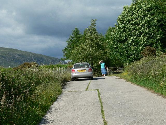 Farm road to Clanery Farm