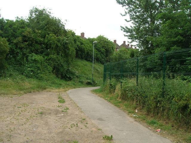 Footpath off Carlton Road, Nottingham