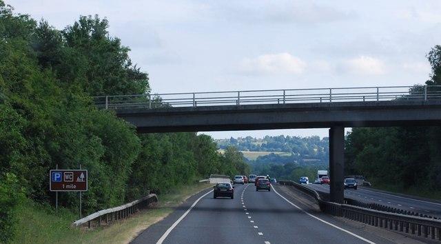 Philpots Lane Bridge over the A21
