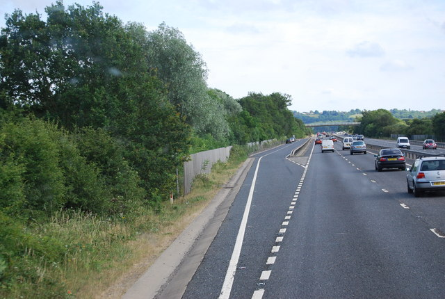 Beginning of the Barnett's Wood Picnic Area pull off, A21