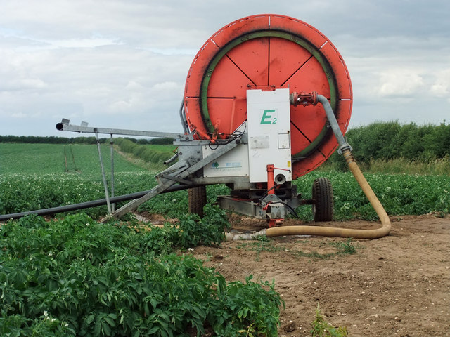 Irrigation Hose Drum near North Wold Farm