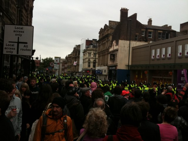 Demonstration against the English Defence League