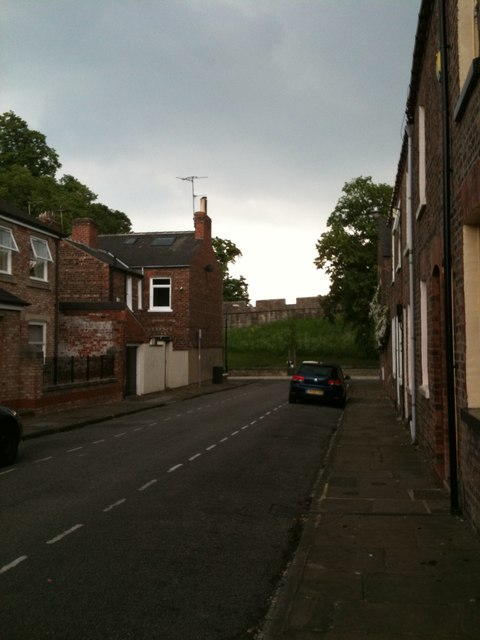 Kyme Street, York - towards the City Walls
