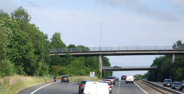 A26 turn off to Tonbridge and Tunbridge Wells