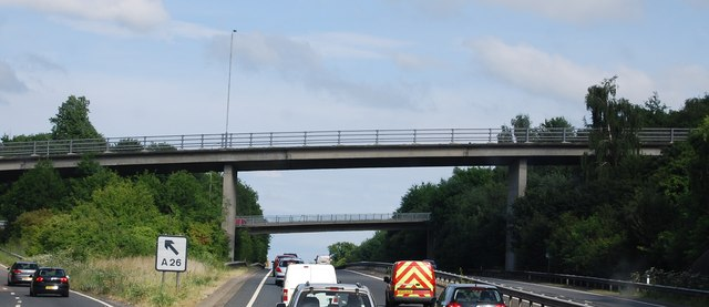 A26 bridge over the A21