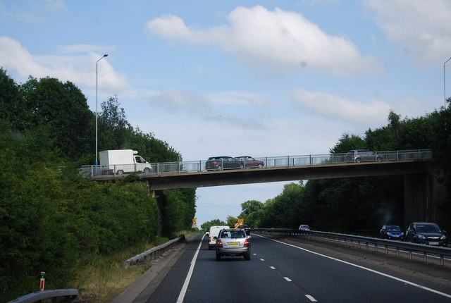 A26 bridge over the A21