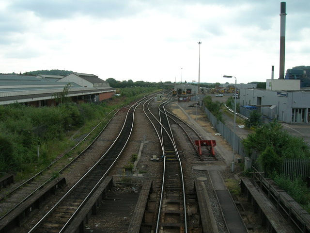 Railway lines running east out of Nottingham