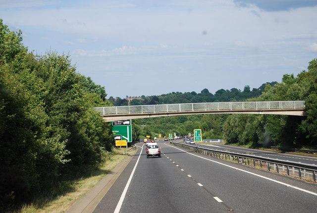 Footbridge over the A21